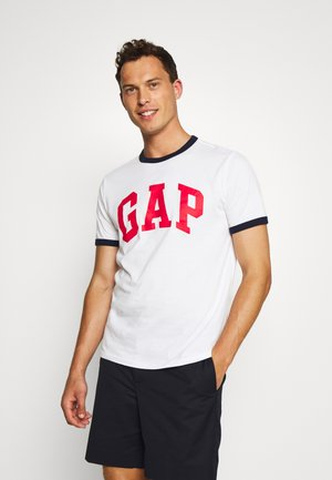 LOGO RINGER - T-shirt z nadrukiem - white