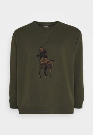 DOUBLE TECH - Sweatshirt - company olive