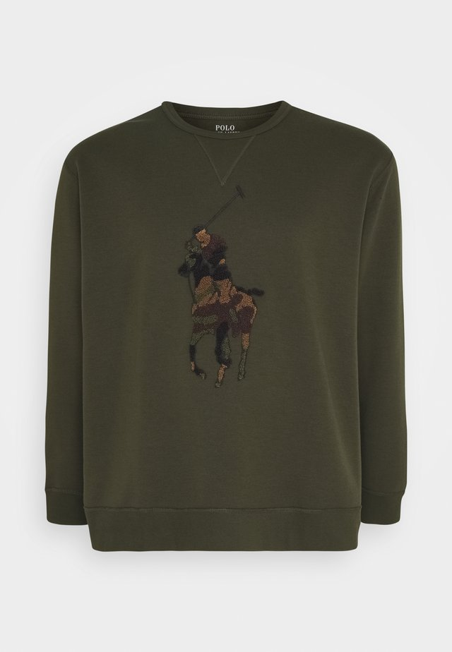 DOUBLE TECH - Sweatshirt - company olive