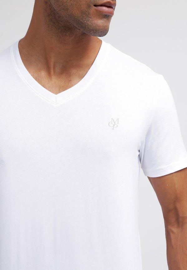 Marc O'Polo SCOTT SHAPED FIT - T-shirt basic - white/biały Odzież Męska QTZX