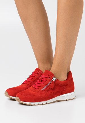 WOMS LACE-UP - Trainers - red