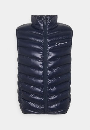QUILTED GILET - Smanicato - navy