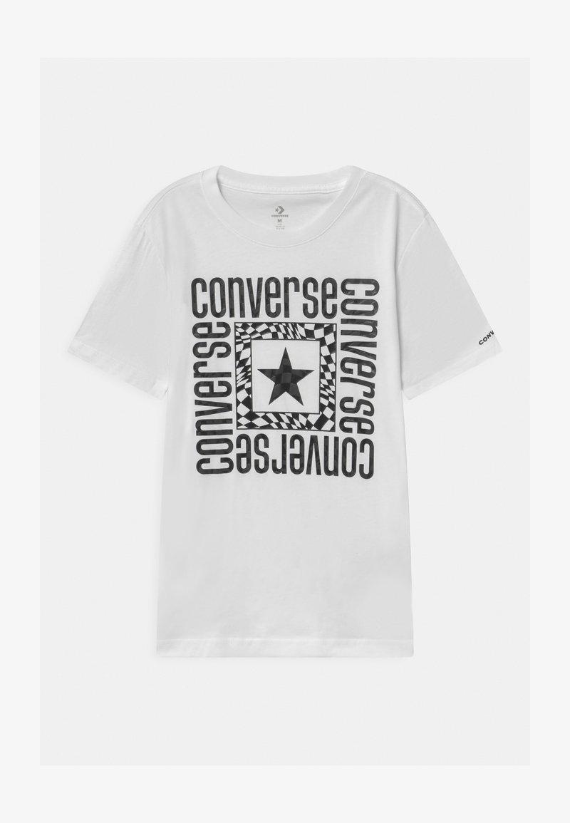 Converse - LOCKUP - T-shirt imprimé - white