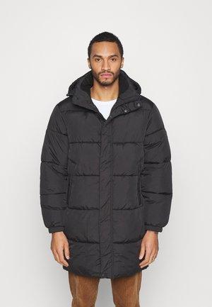 LONGLINE PUFFER - Winter coat - black