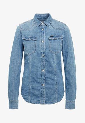 3301 - Button-down blouse - blue denim