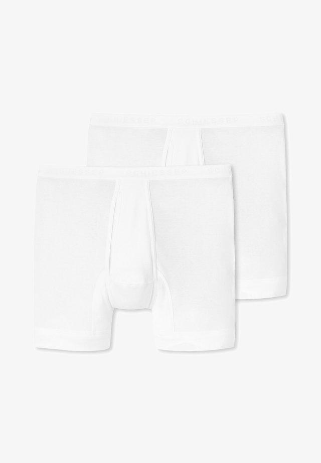 2ER PACK ORIGINAL CLASSICS FEINRIPP - Onderbroeken - weiß
