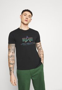Alpha Industries - BASIC - T-shirt print - black - 0