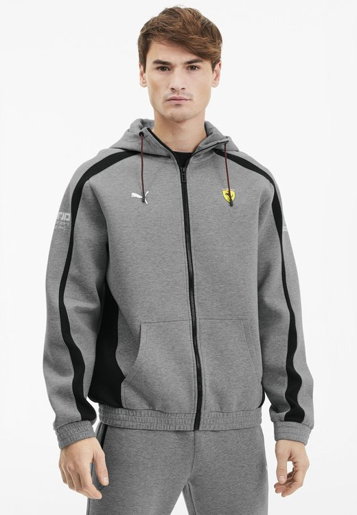 SCUDERIA FERRARI - Zip-up hoodie - medium gray heather