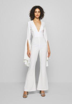 PLUNGE FLARE SLEEVE  - Jumpsuit - white