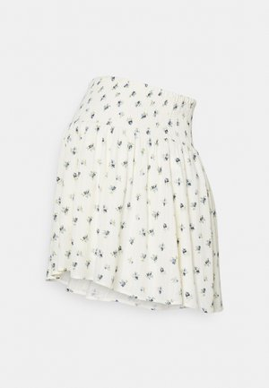 PCMTHEA SMOCK SKIRT - Mini skirt - cloud dancer