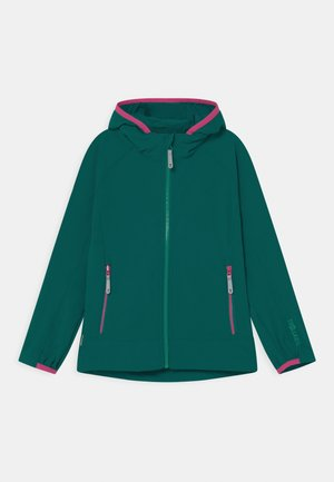 GIRLS KVALVIKA - Soft shell jacket - smaragd/pink