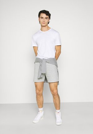 JJISIMONE SHORTS 2-PACK - Pantaloni sportivi - black/Light grey melange