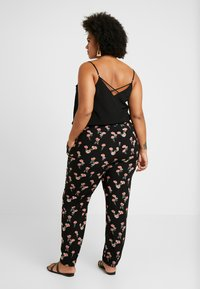 Zizzi - EXCLUSIVE EFLORAL WIDE PANT - Kalhoty - black combo - 3