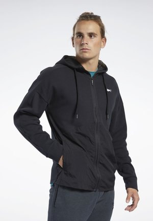 TRAINING SUPPLY HOODIE - veste en sweat zippée - black