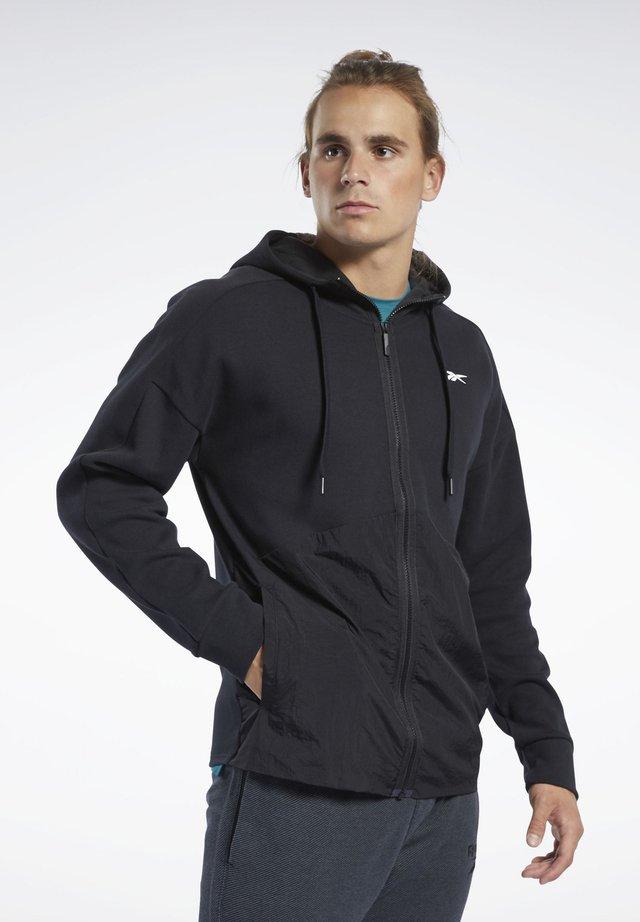 TRAINING SUPPLY HOODIE - veste en sweat zippée - black