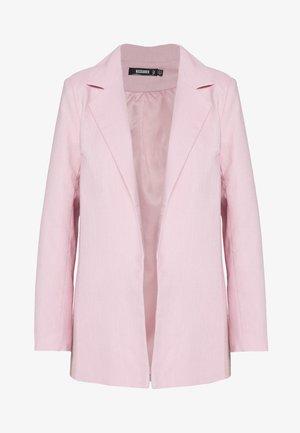 LINEN BOYFRIEND BLAZER - Sportovní sako - pink linen