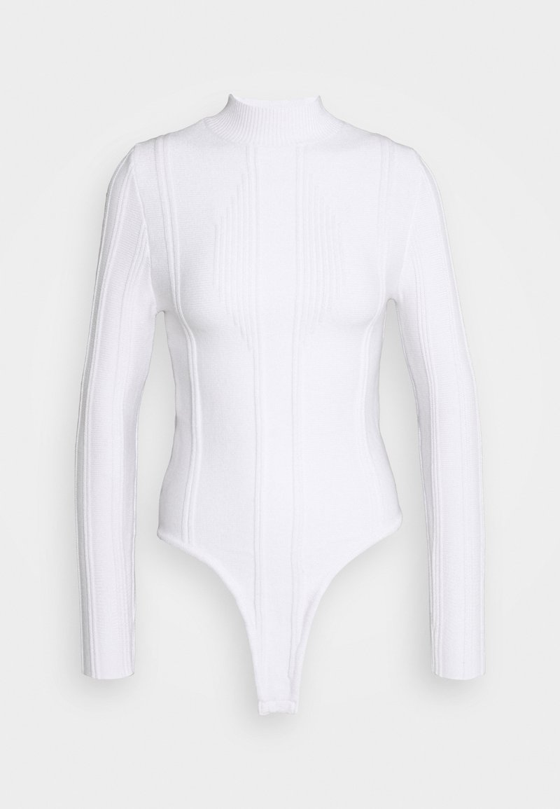 Missguided Petite - EXPOSED DETAIL  - Strikkegenser - white