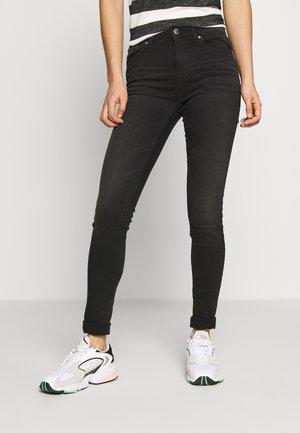 ONLBLUSH MID SKINNY - Skinny džíny - black