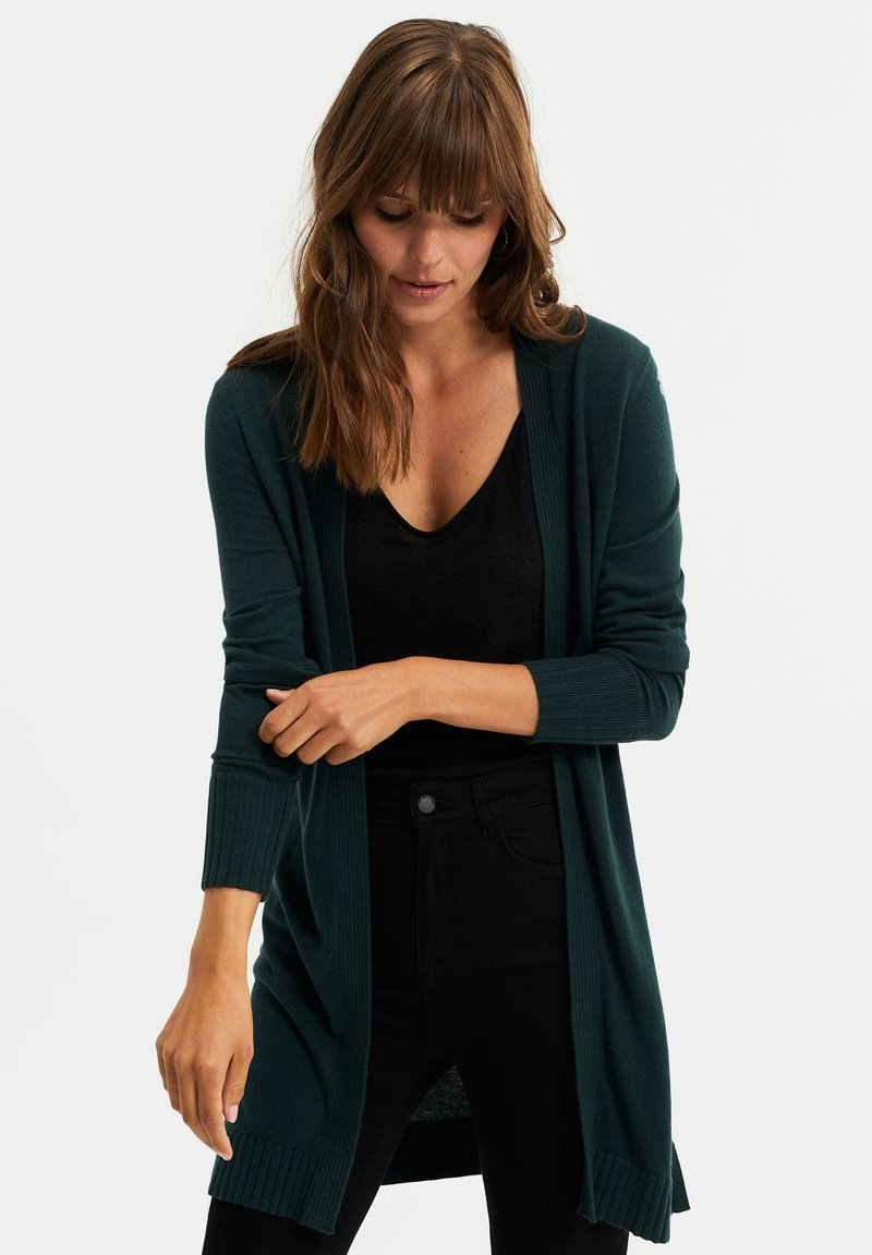 WE Fashion - Cardigan - dark green
