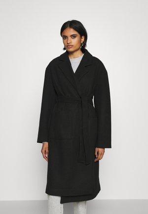 IRMA BELTED COAT - Zimní kabát - black