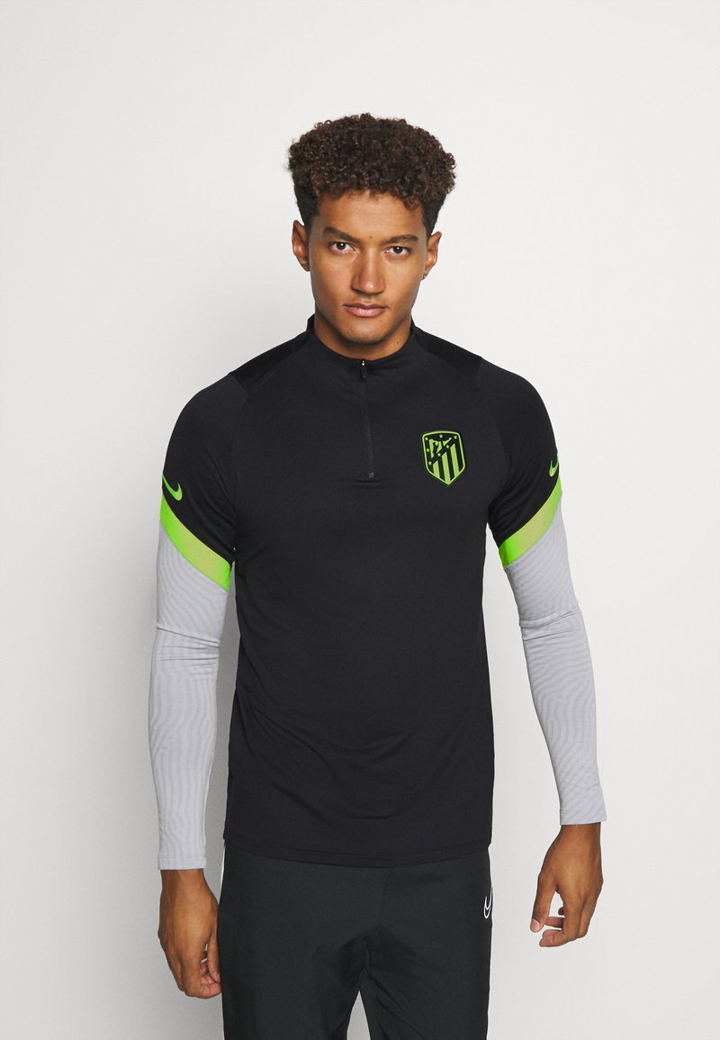 Nike Performance - ATLETICO MADRID DRY DRILL - Klubtrøjer - black/wolf grey/volt