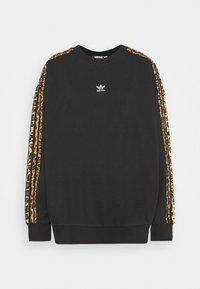 adidas Originals - LEOPARD CREW - Sweatshirt - black - 4