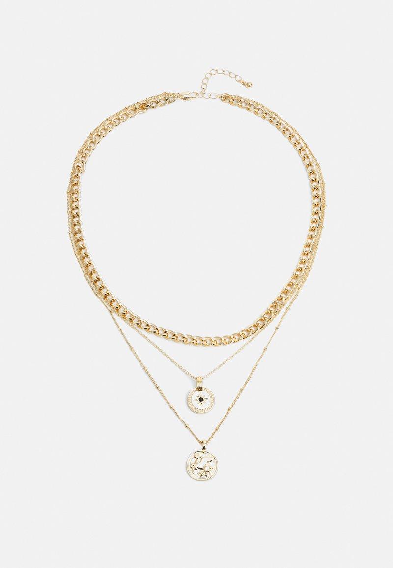 Pieces - PCKERTIN COMBI NECKLACE  - Necklace - gold-coloured