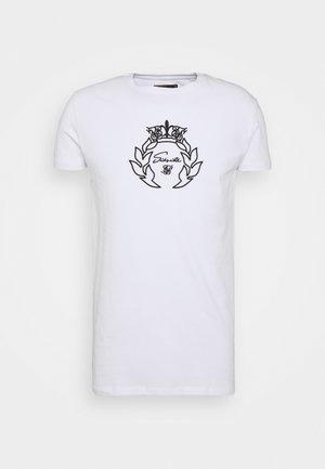 PRESTIGE EMBROIDERY GYM TEE - T-shirt print - white