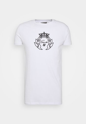 PRESTIGE EMBROIDERY GYM TEE - Print T-shirt - white