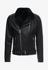 ROCKER DOUBLE FACE - Veste en cuir - black