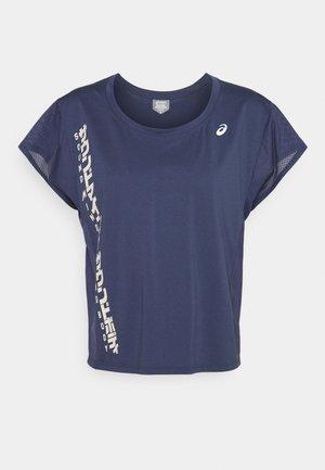RUN - Print T-shirt - thunder blue/birch