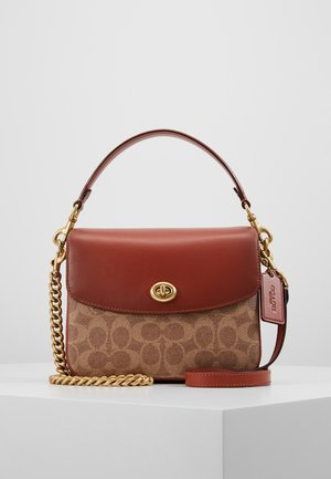COATED SIGNATURE CASSIE CROSSBODY - Handbag - tan rust
