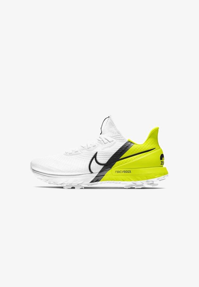 AIR ZOOM INFINITY TOUR - Chaussures de golf - white lemon volt black
