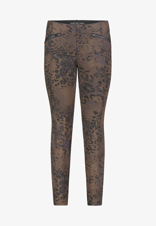 DREAM ANKLE LUXURY - Trousers - brown