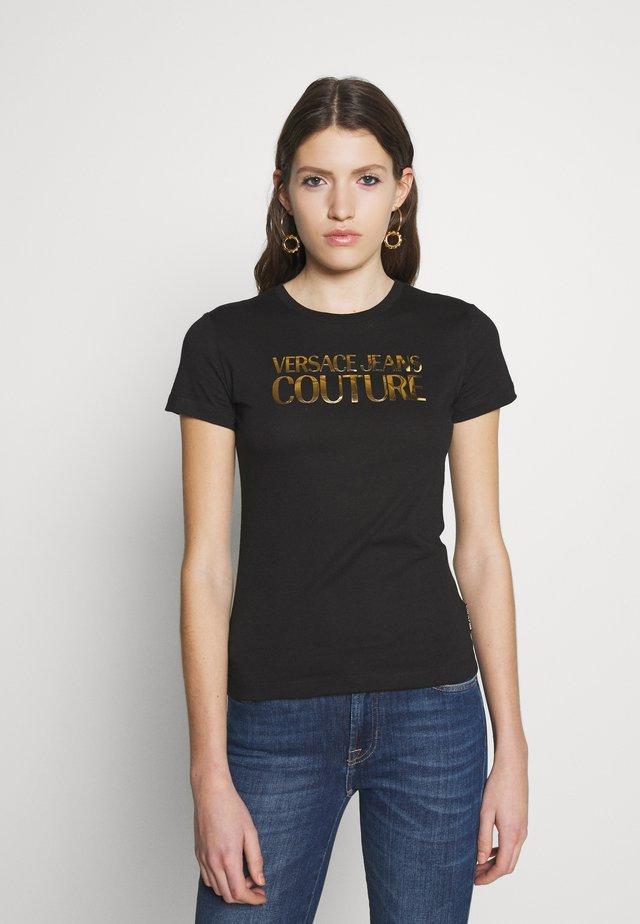 LADY - T-shirt print - black/gold