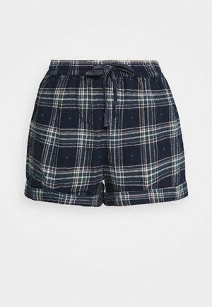 CHECK SHORT - Pyjama bottoms - navy mix