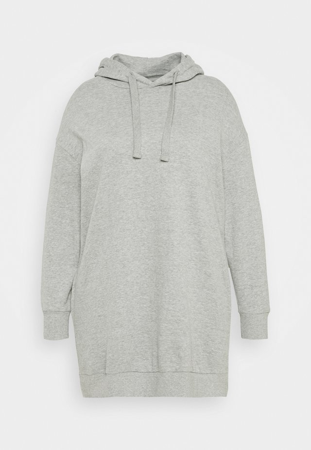 HOODED DRESS - Day dress - grey marl