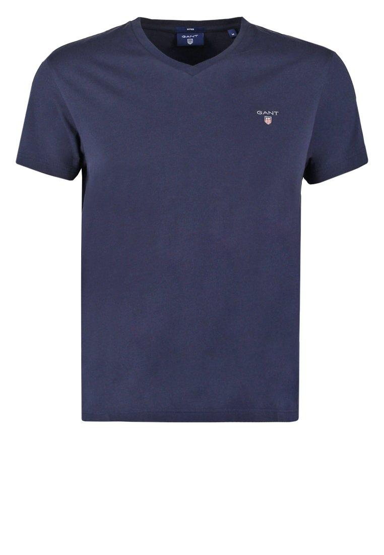 Gant The Original Slim Fit - T-shirts Evening Blue/mørkeblå