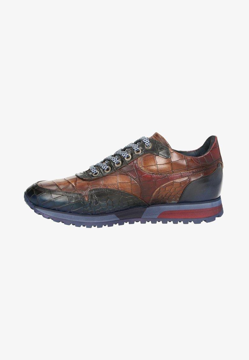 Lorenzi - Sneakers laag - cognac