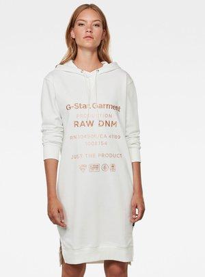 GRAPHIC TEXT - Jersey dress - milk
