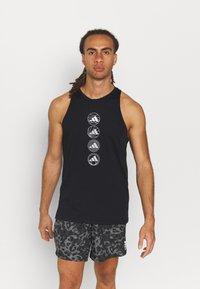 adidas Performance - RUN LOGO TANK M - Sports shirt - black - 0