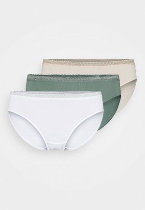ZANNA 3 PACK - Briefs - white/beige/green
