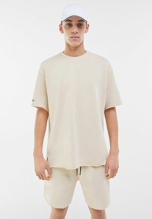 SHORT SLEEVE SWEAT - Basic T-shirt - light grey