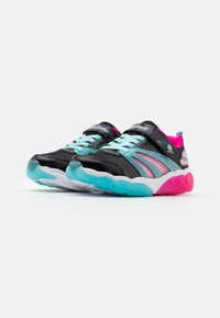 Skechers - FUSION FLASH - Trainers - black/turquoise/neon pink - 1