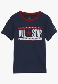 Converse - STARS AND STRIPES TEE - Print T-shirt - navy - 0
