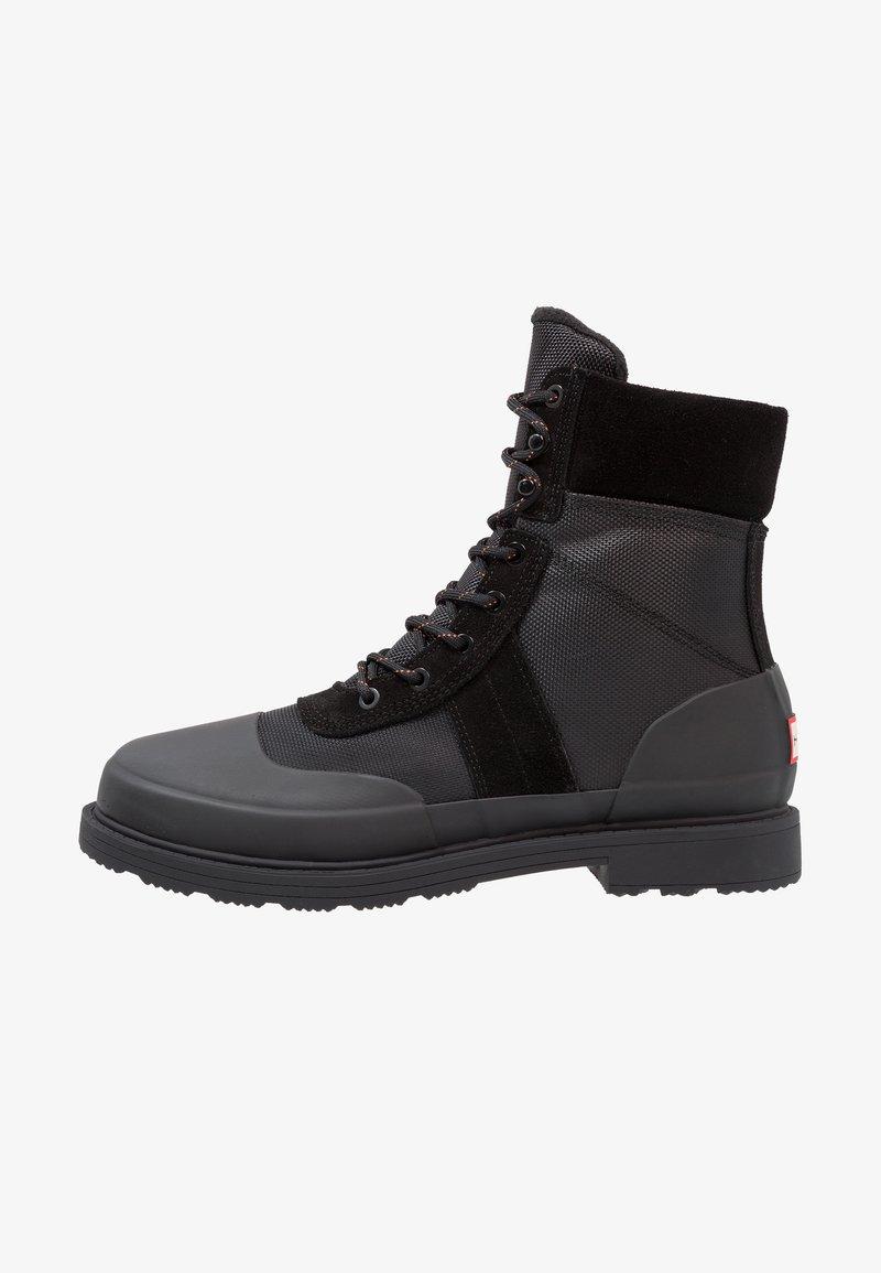 Hunter ORIGINAL - MENS ORIGINAL INSULATED COMMANDO BOOTS - Nauhalliset nilkkurit - black