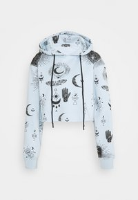 Missguided - PRINT CROPPED HOODY - Jersey con capucha - dusky blue - 0