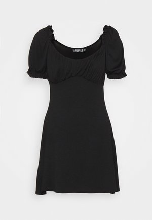 MILKMAID SKATER DRESS - Jerseykjole - black