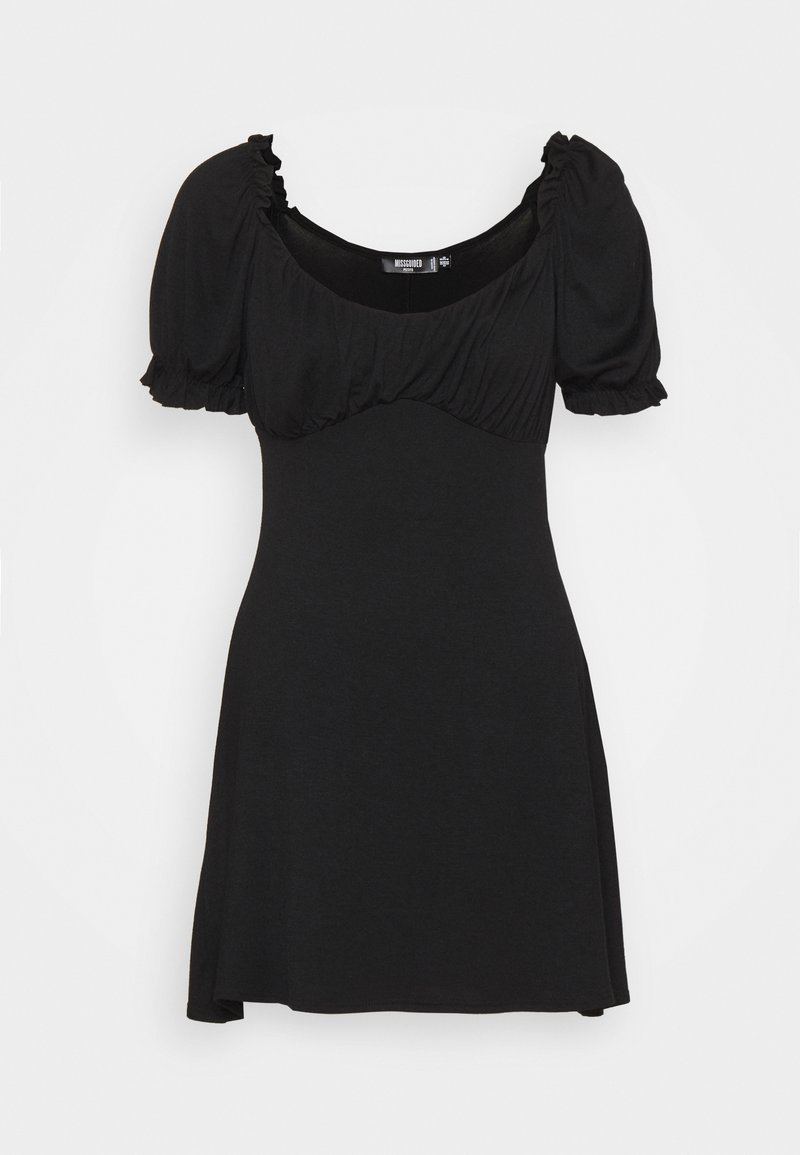 Missguided Petite - MILKMAID SKATER DRESS - Jerseyjurk - black