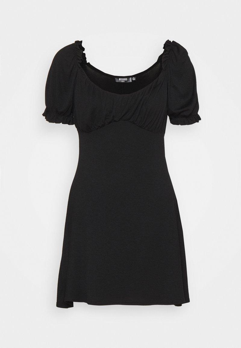 Missguided Petite - MILKMAID SKATER DRESS - Jerseykjole - black